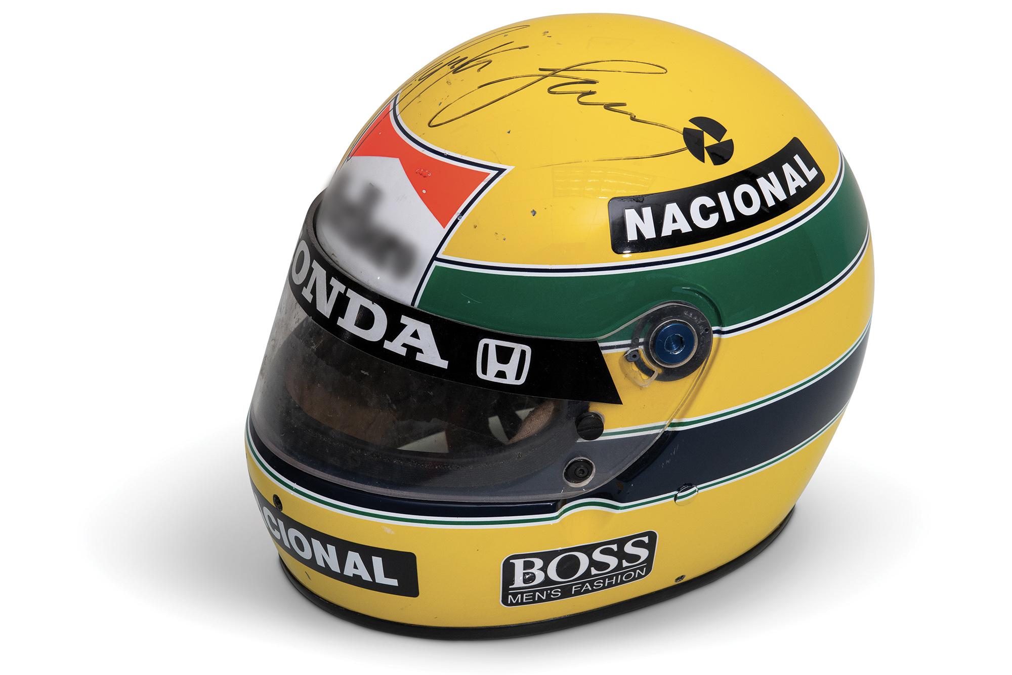 1988 Ayrton Senna helmet sold for $102,000 auction in December 2019
