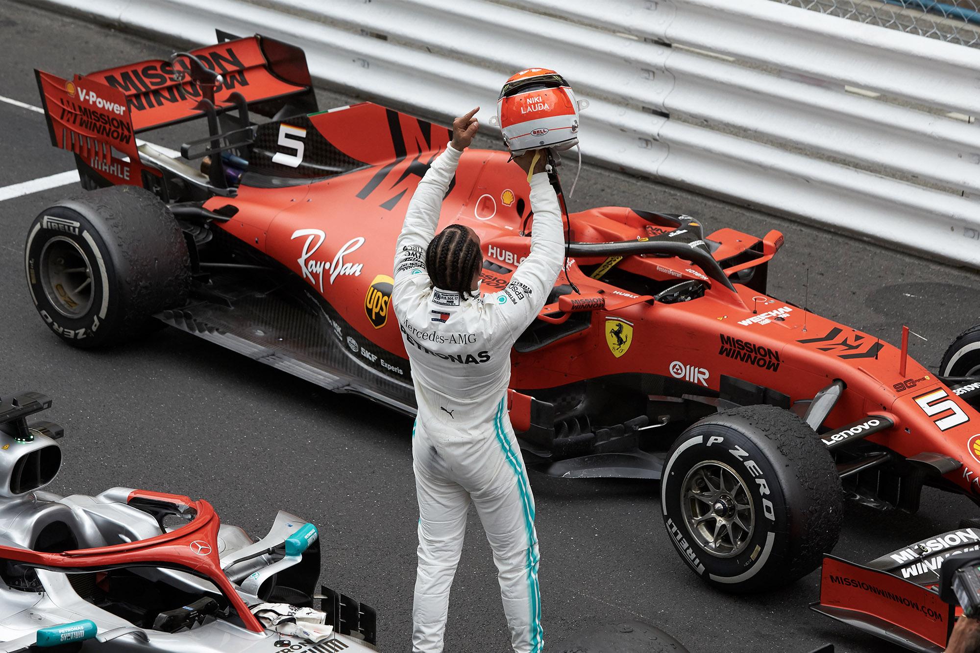 Lewis Hamilton after winning the Monaco Grand Prix