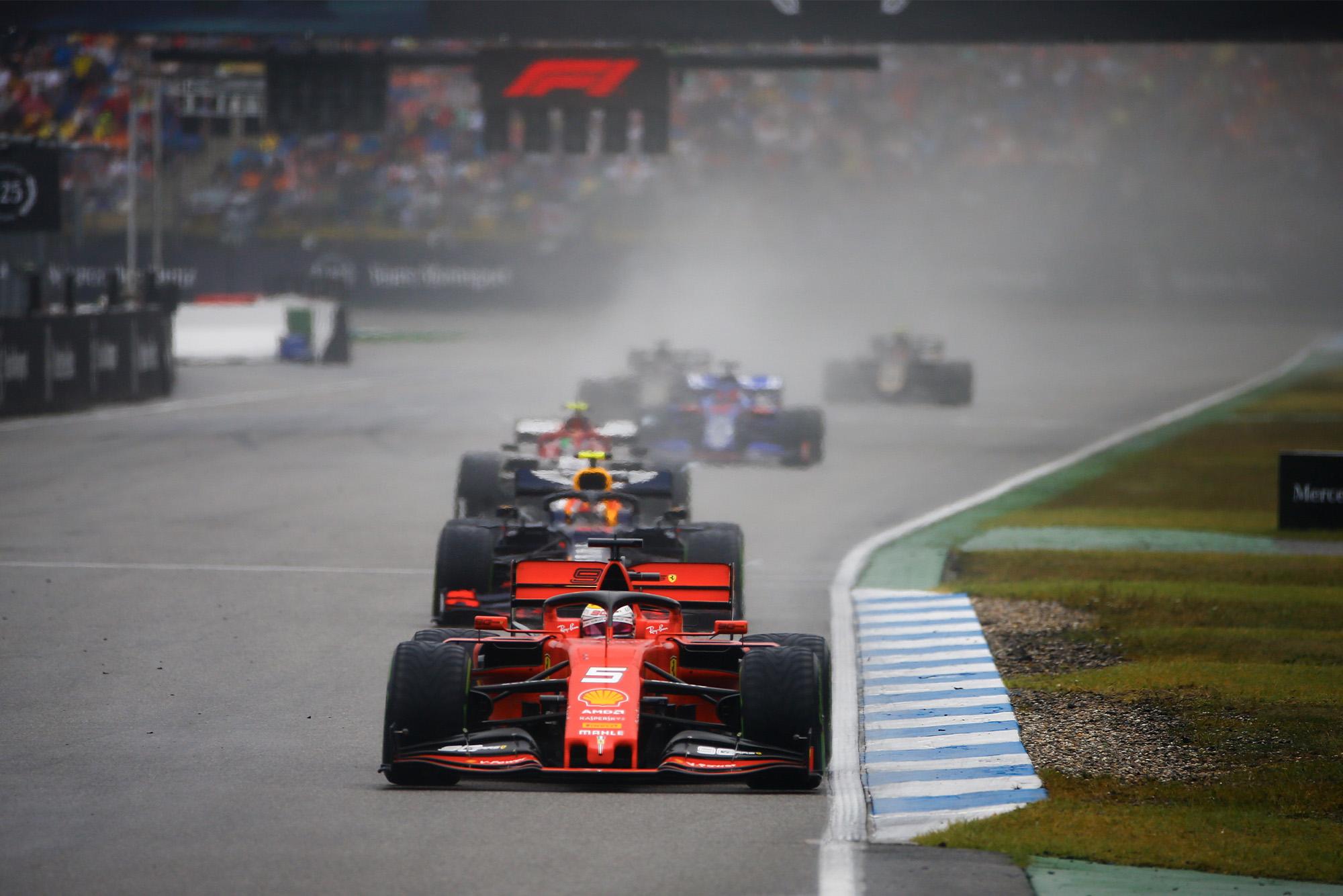 Sebastian Vettel fought back to finish third in the 2019 German Grand Prix