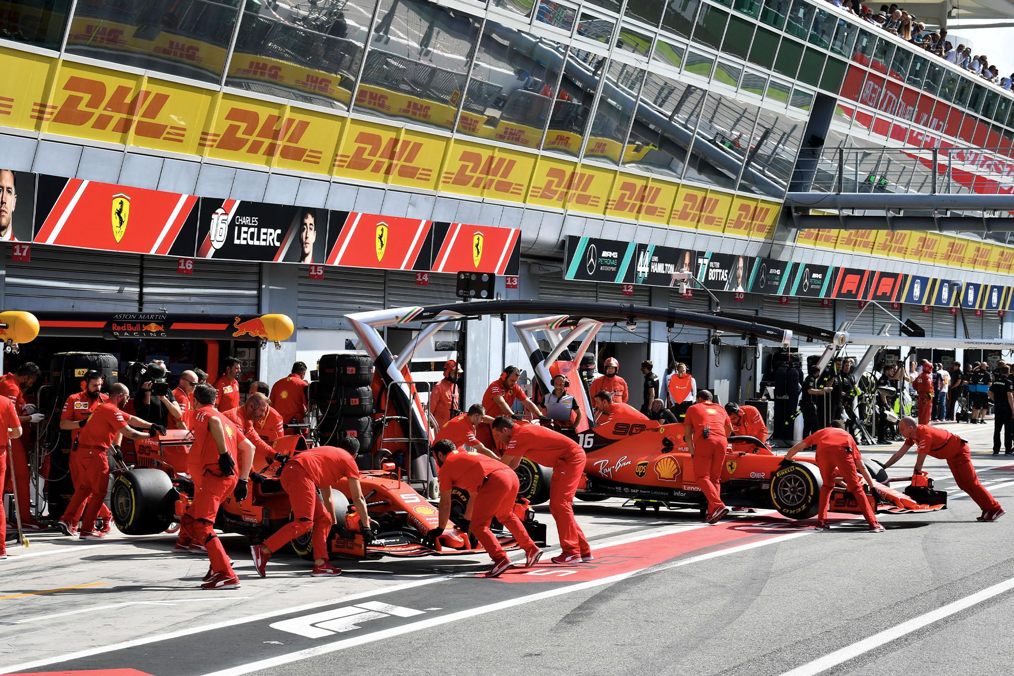 Ferrari during the Italian Grand Prix weekend