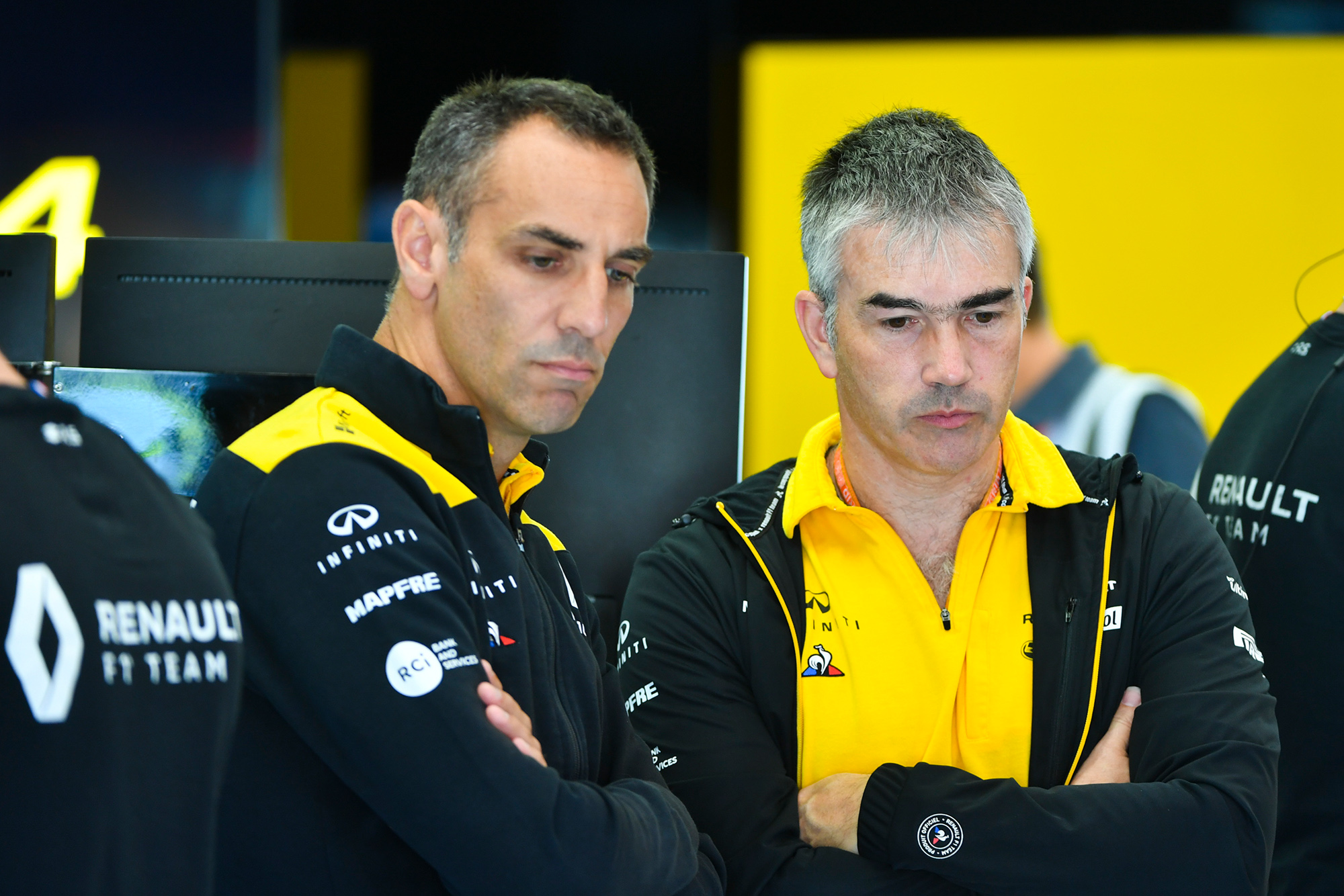 Cyril Abiteboul and Nick Chester at Renault F1 in 2019