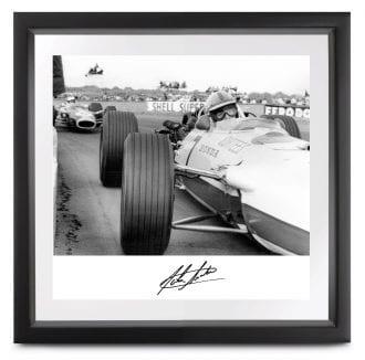 Product image for John Surtees - Honda RA273 - Silverstone   Limited Edition print   signed John Surtees