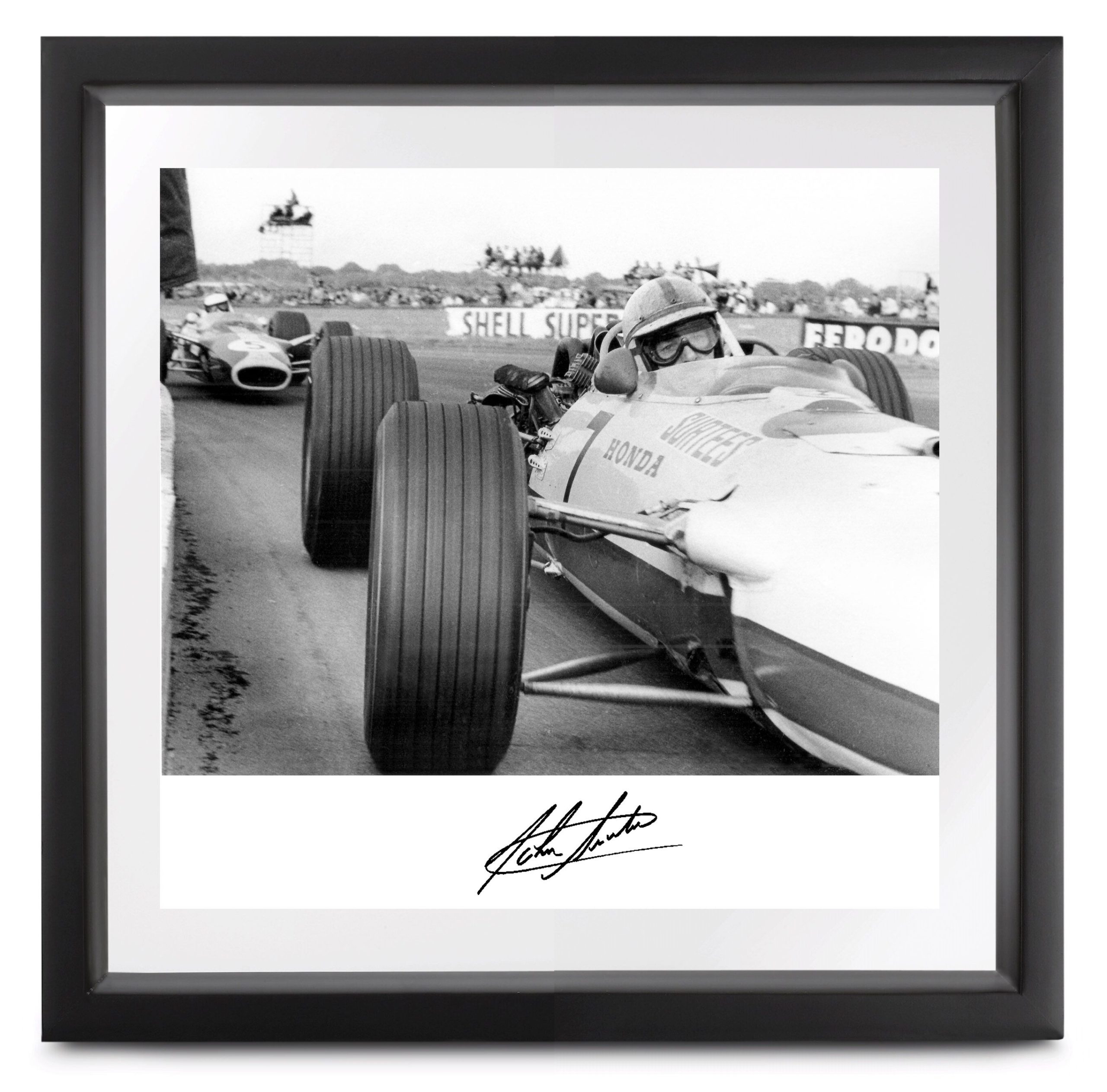 Product image for John Surtees - Honda RA273 - Silverstone | Limited Edition print | signed John Surtees