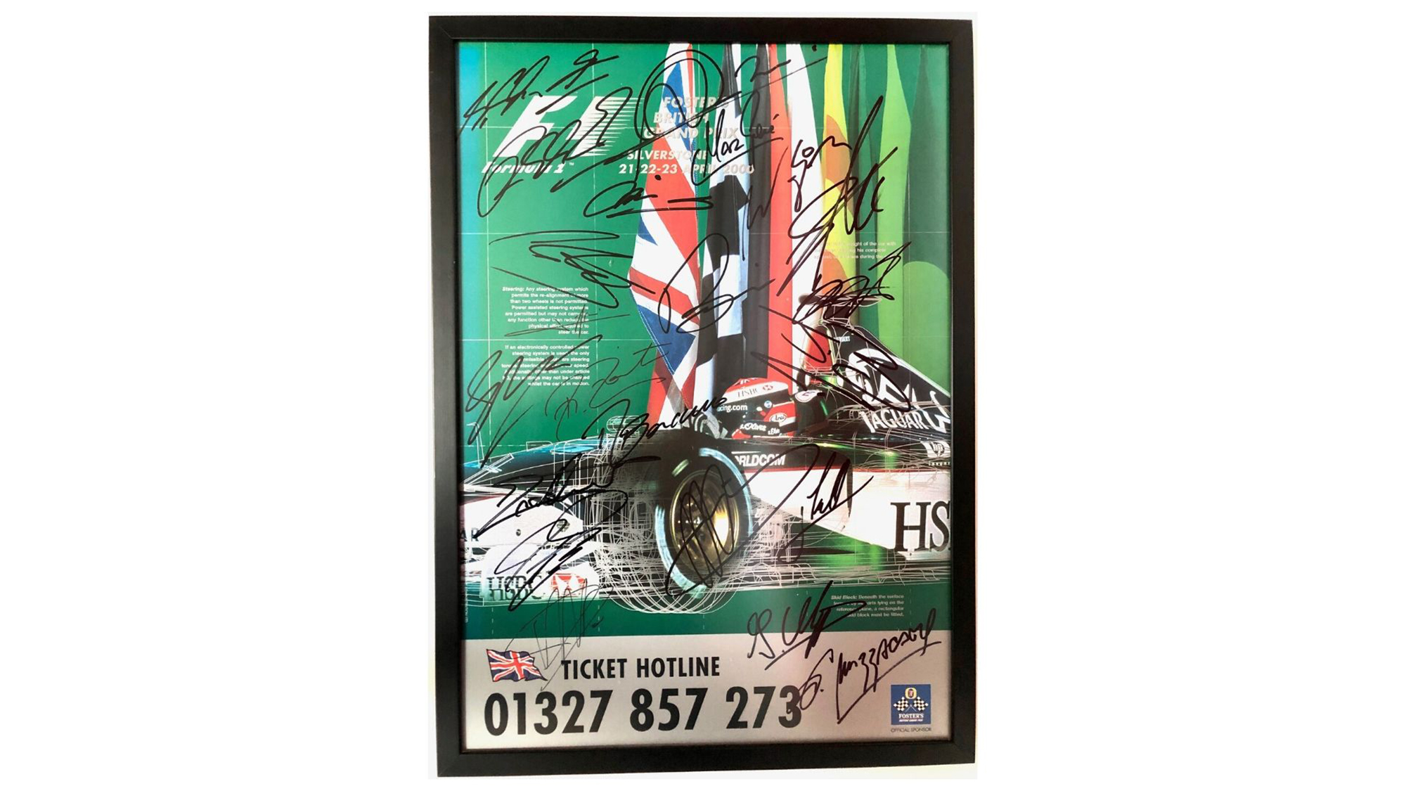 Silverstone signed poster
