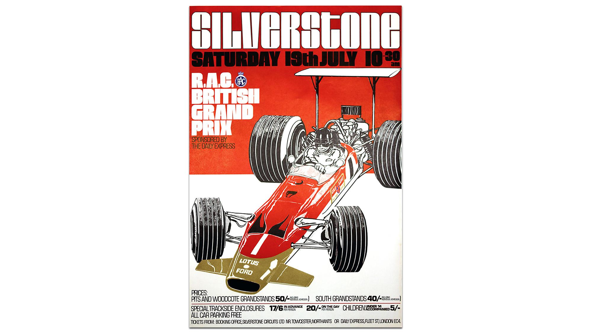 Silverstone GP poster