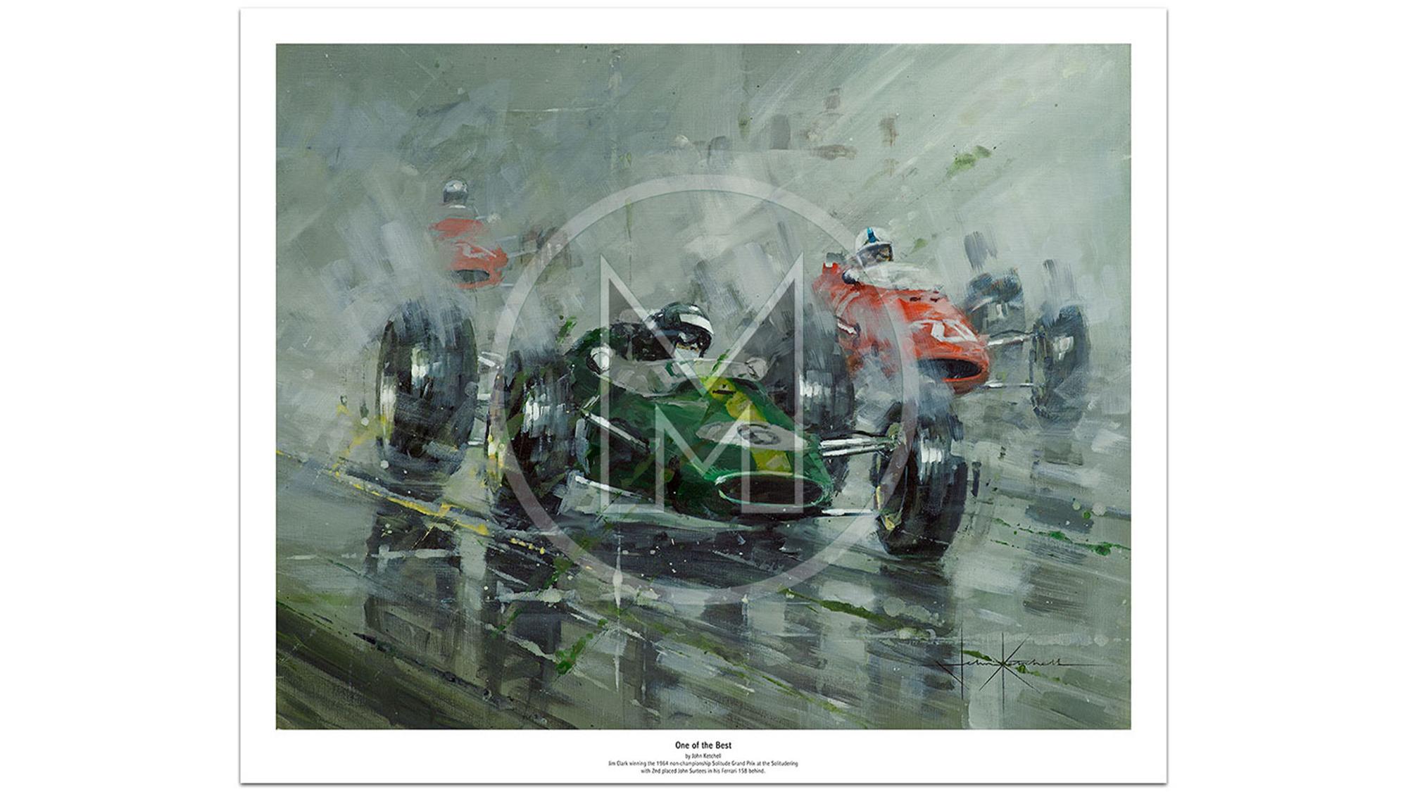 Jim Clark Lotus 33 poster