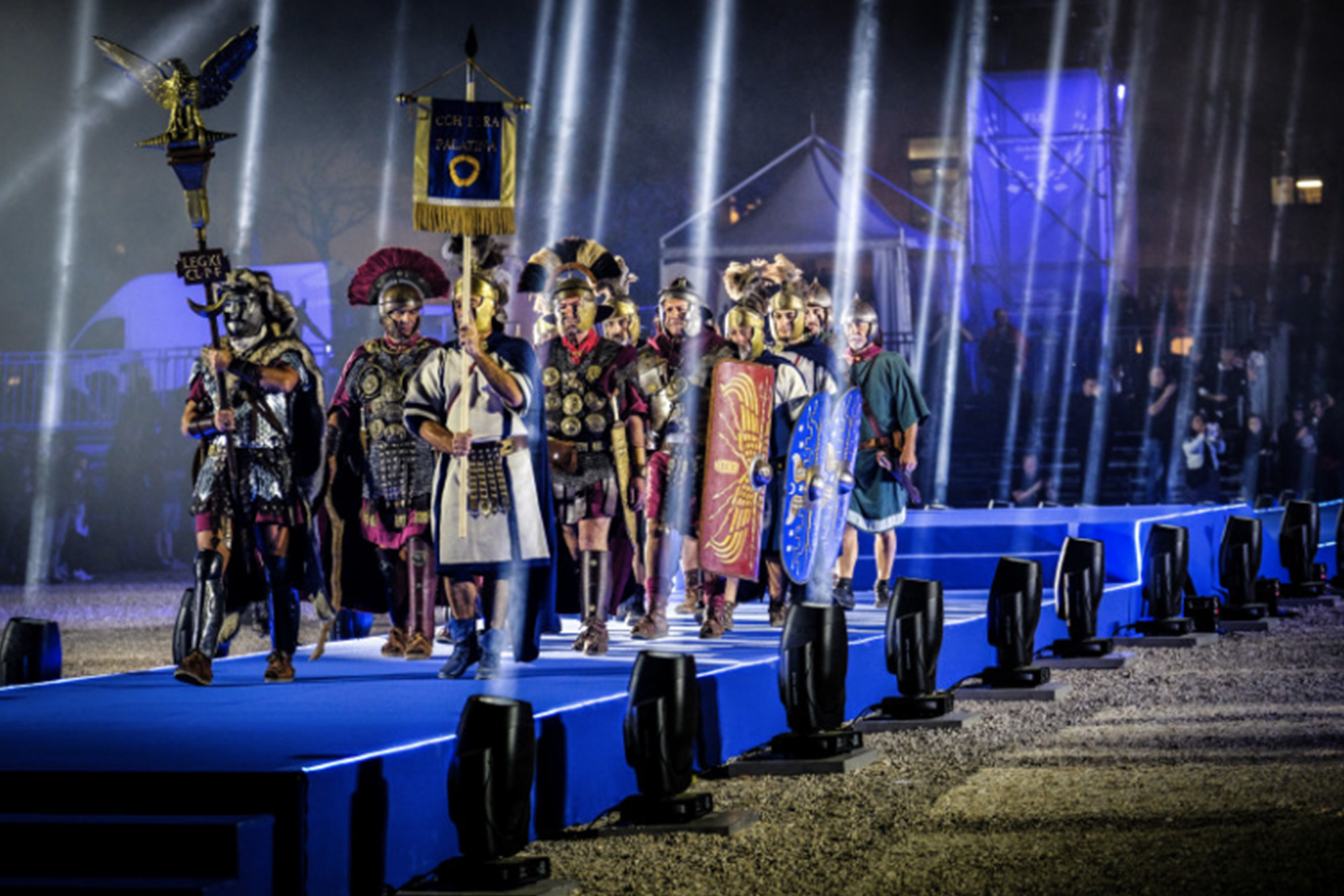 Roman centurions at the opening ceremony to the 2019 FIA Motorsport Games