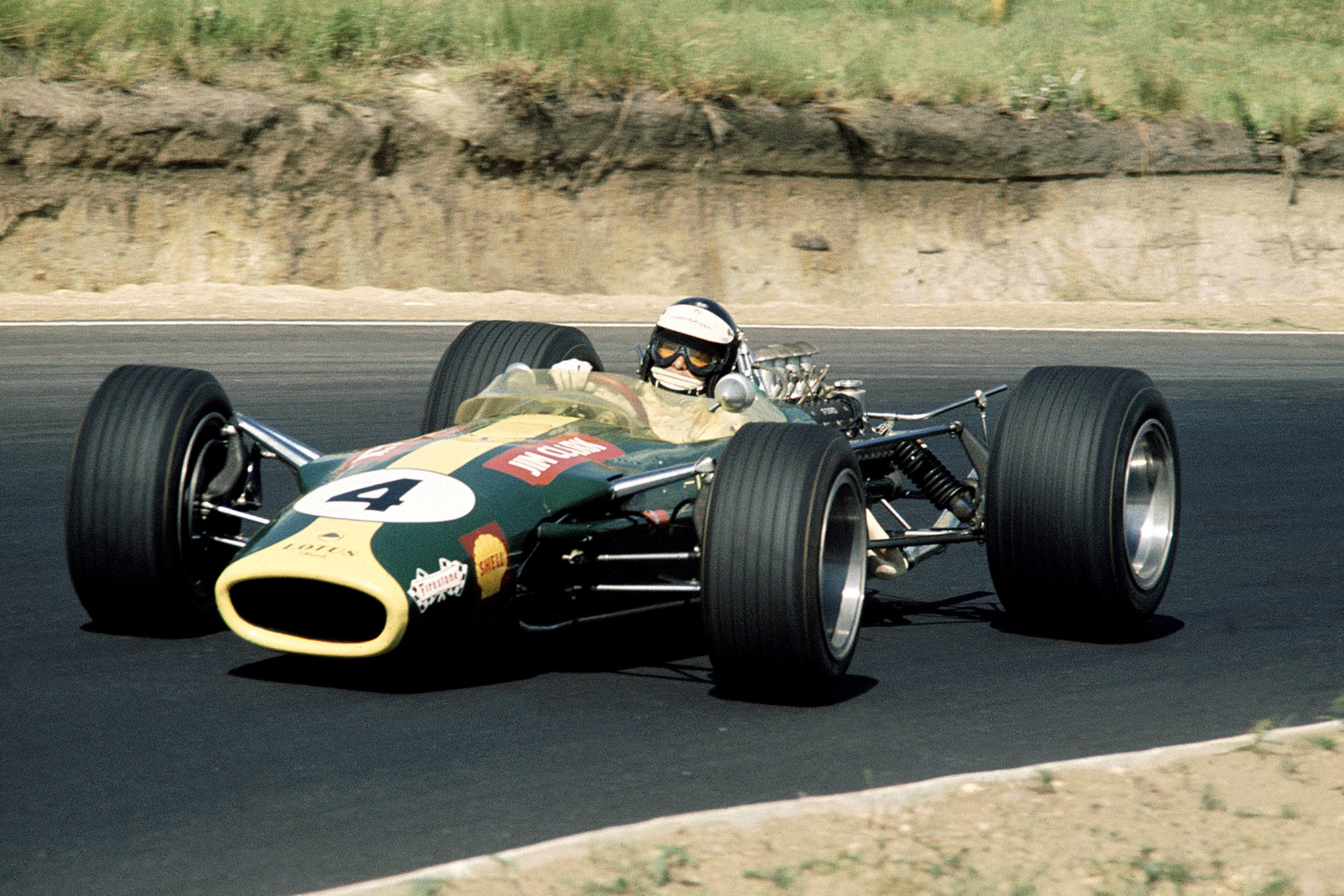 Jim Clark in the 1968 South African Grand Prix