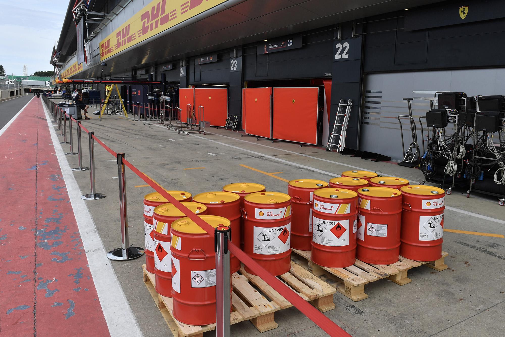 F1 fuel on pallet