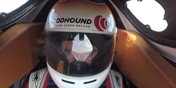Video: Watch Bloodhound cockpit camera as car hits 628mph