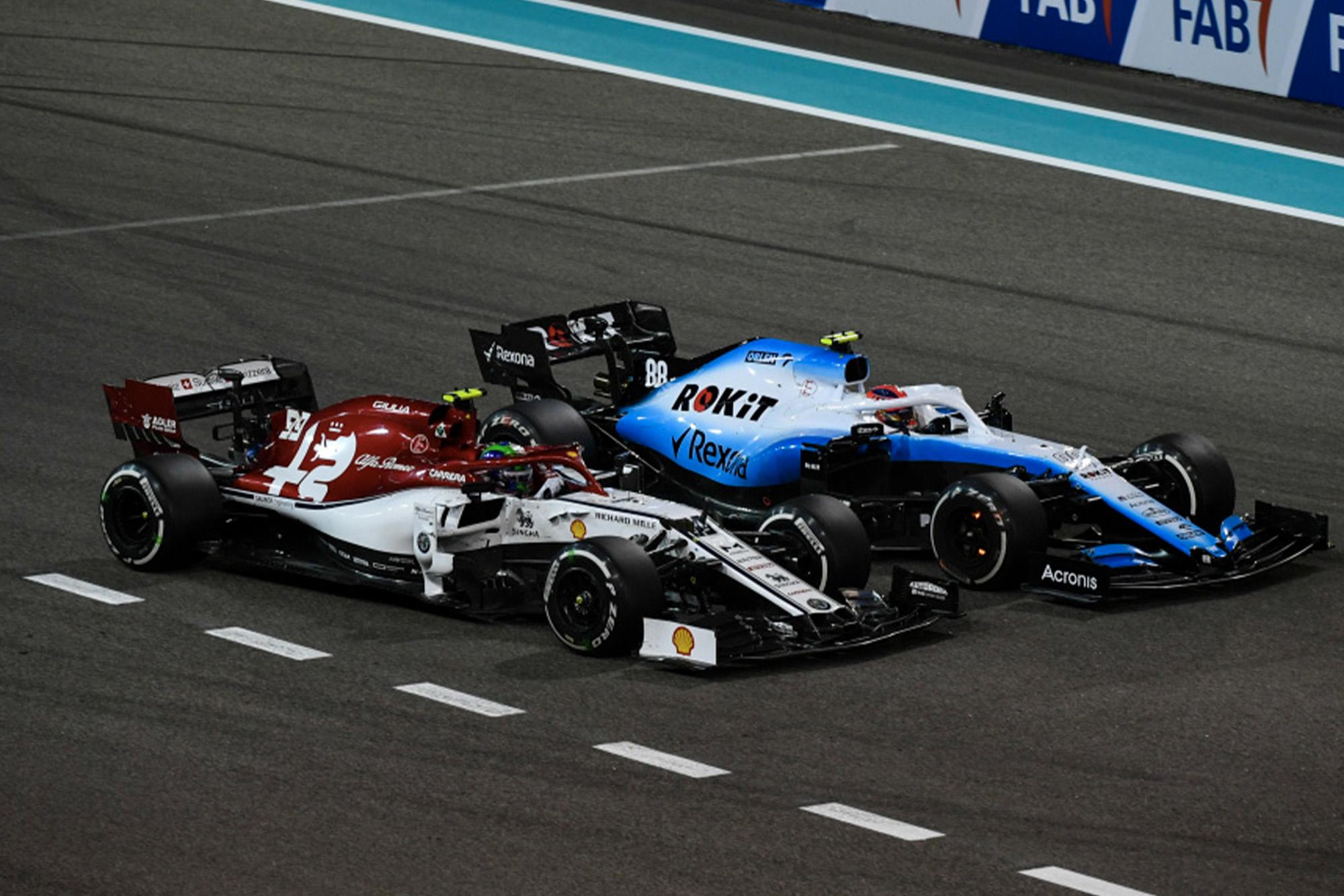 Robert Kubica and Antonio Giovinazzi during the 2019 Abu Dhabi Grand Prix