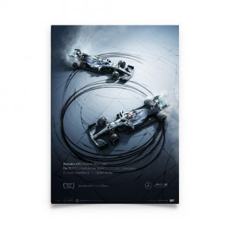Product image for Donuts | Lewis Hamilton - Mercedes W10 - 2019 | Automobilist | Collector's Edition Poster