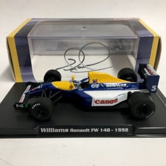 Product image for Nigel Mansell - Williams FW14B - 1992   model   signed Nigel Mansell   1:43 scale