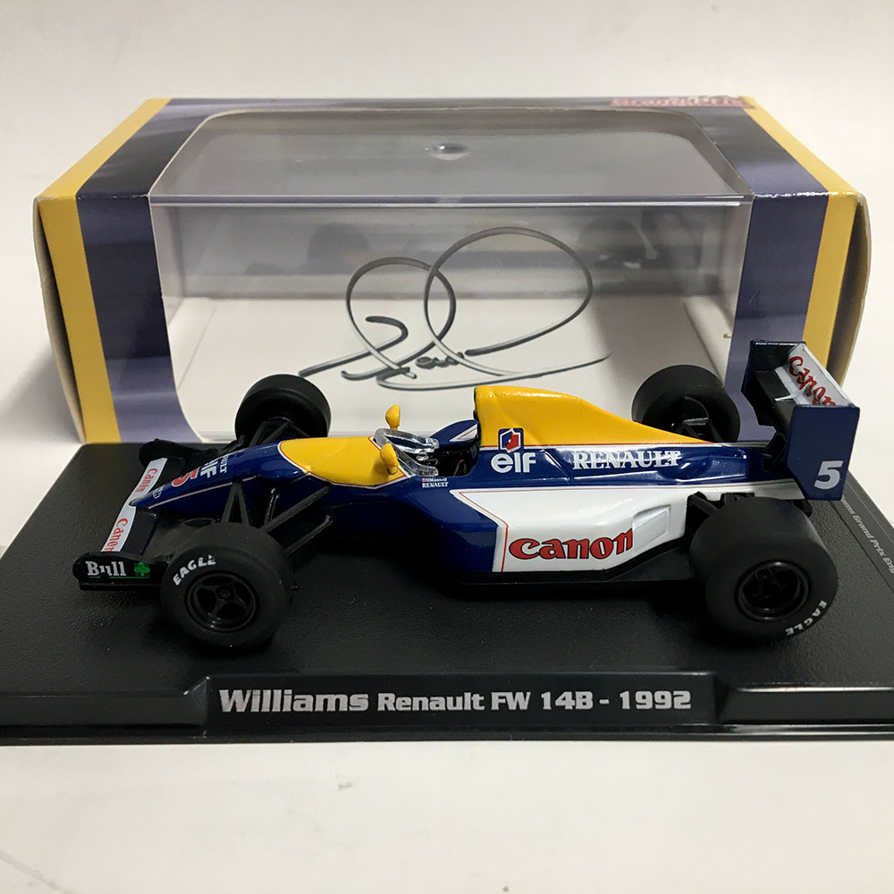 Product image for Nigel Mansell - Williams FW14B - 1992 | model | signed Nigel Mansell | 1:43 scale