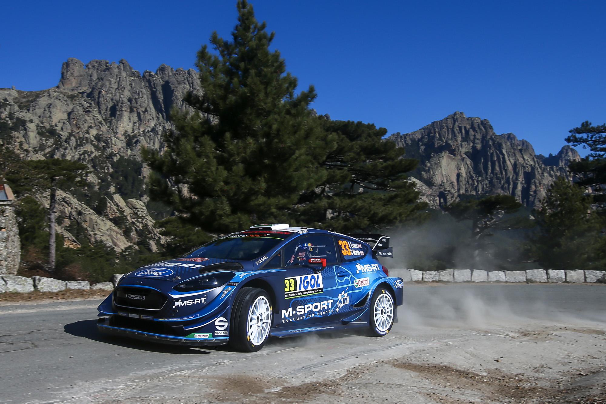 Elfyn Evans during Rally Corsica 2019