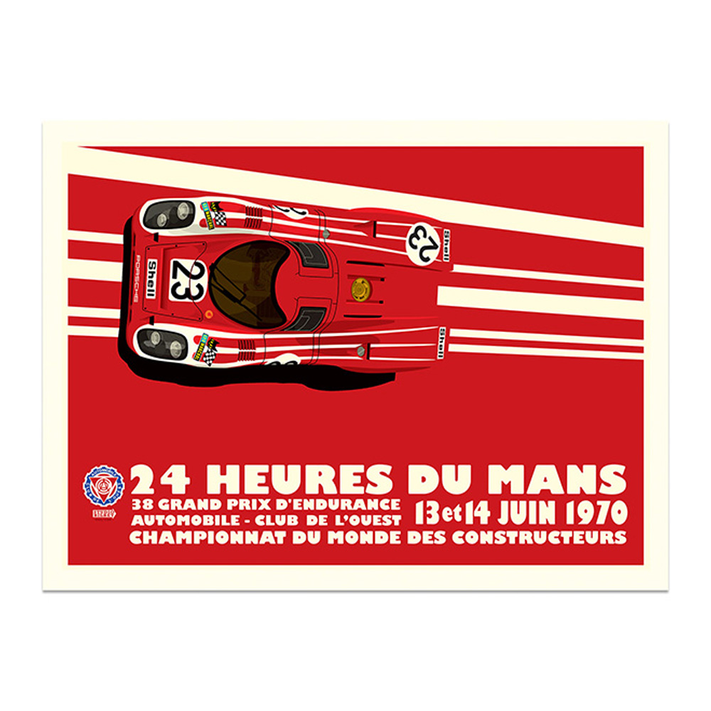 Product image for Salzburg Porsche 917K - Le Mans - 1970   Studio Bilbey   Limited Edition print