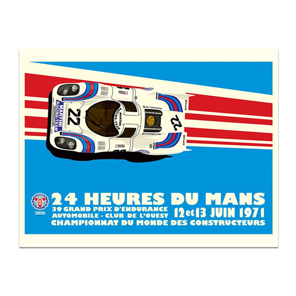 Product image for Martini Porsche 917K - Le Mans - 1971  Studio Bilbey   Limited Edition print