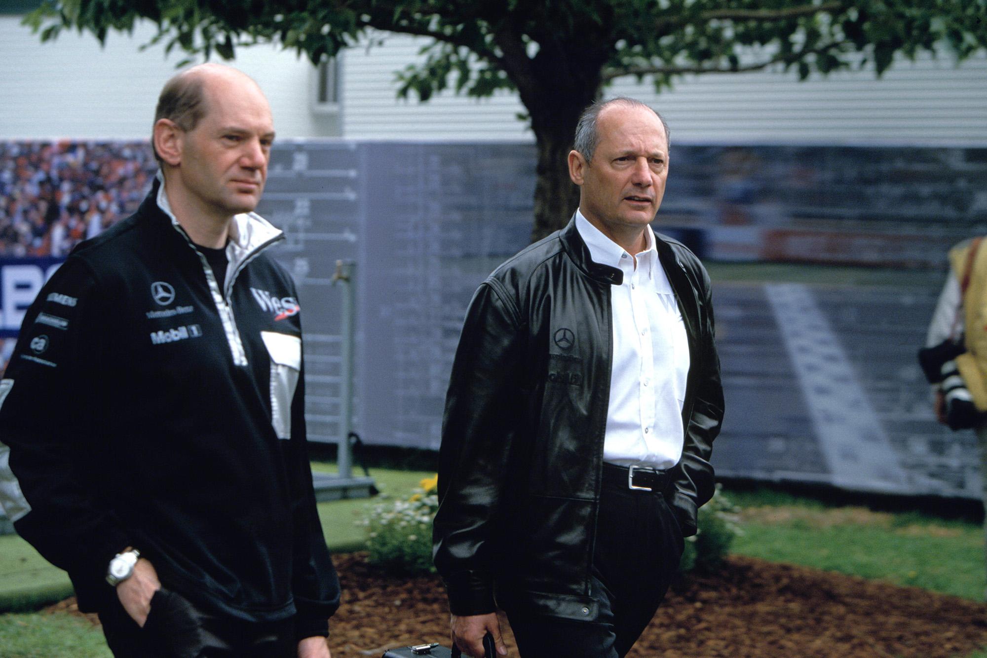Adrian Newey with Ron Dennis in 2004
