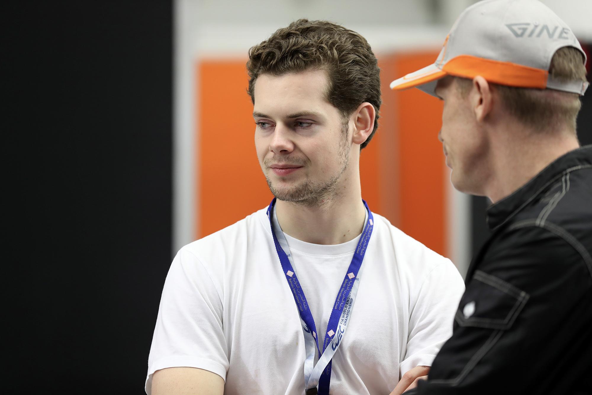 Harrison Newey in Bahrain during the 2019-20 WEC season