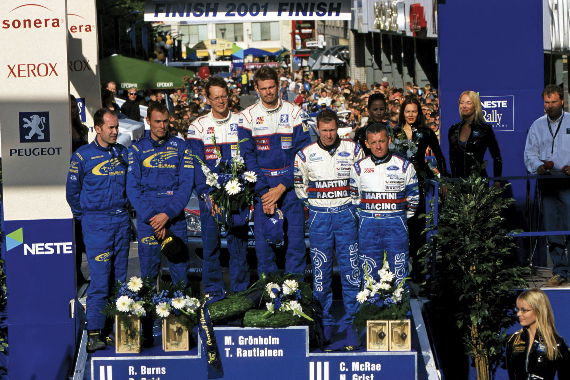 Gronholm Peugeot win WRC 2001