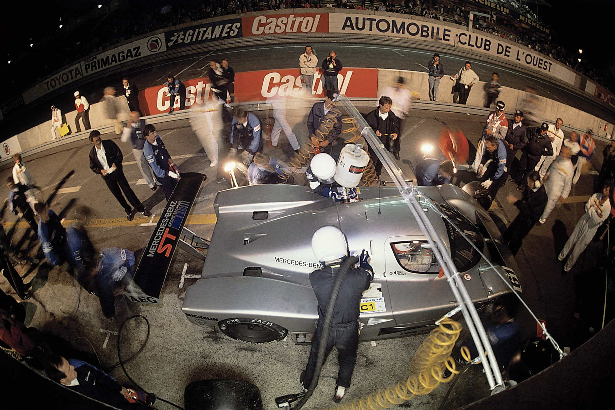Kenny Acheson pit stop night Le Mans