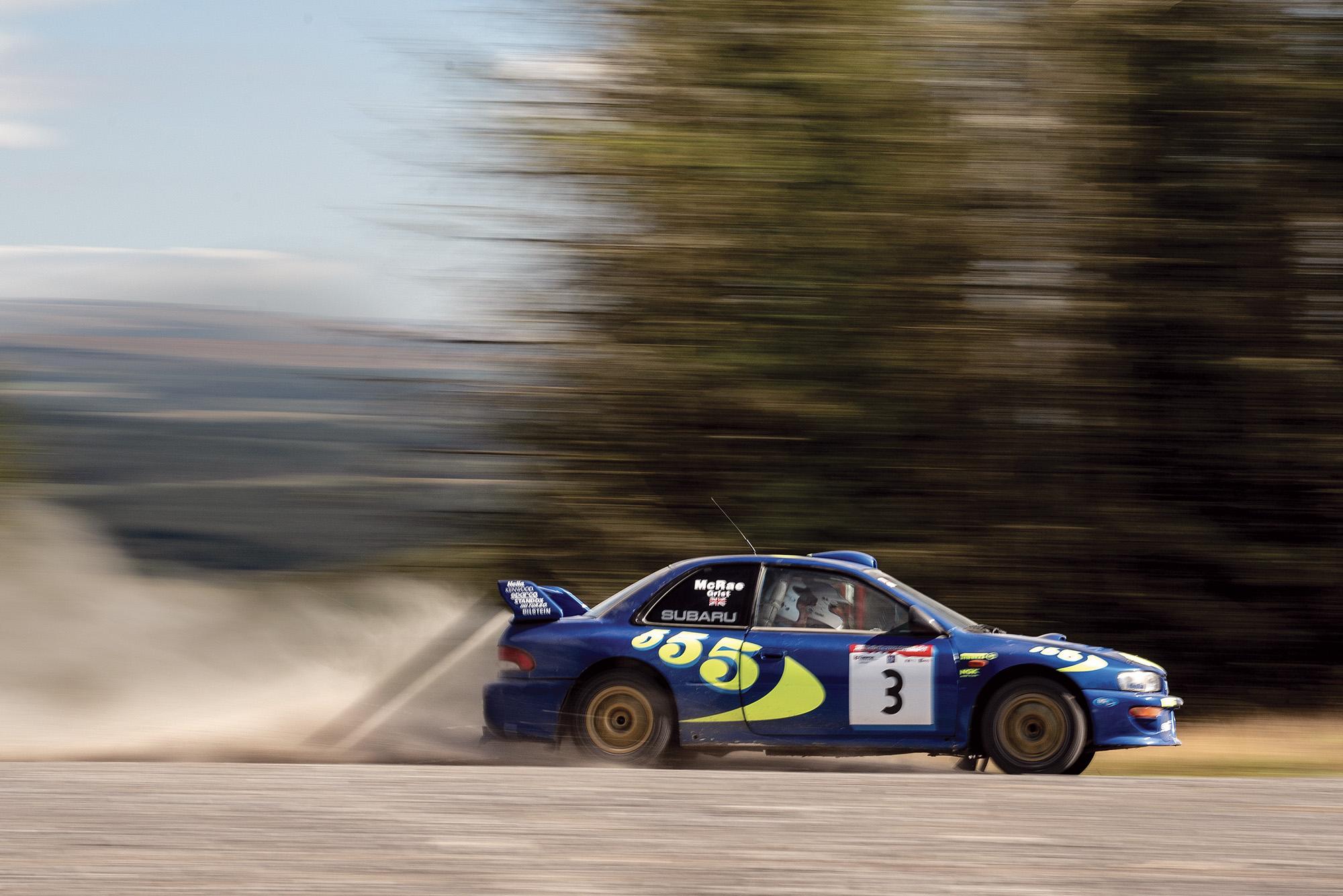 Colin McRae Subaru side