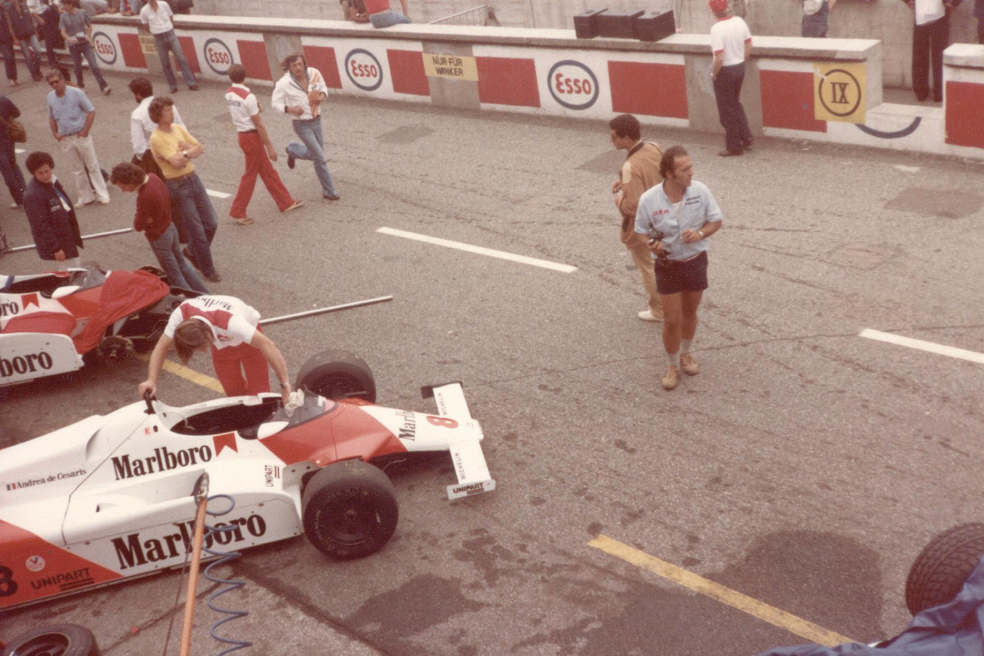 McLarens at the 1981 Italian GP
