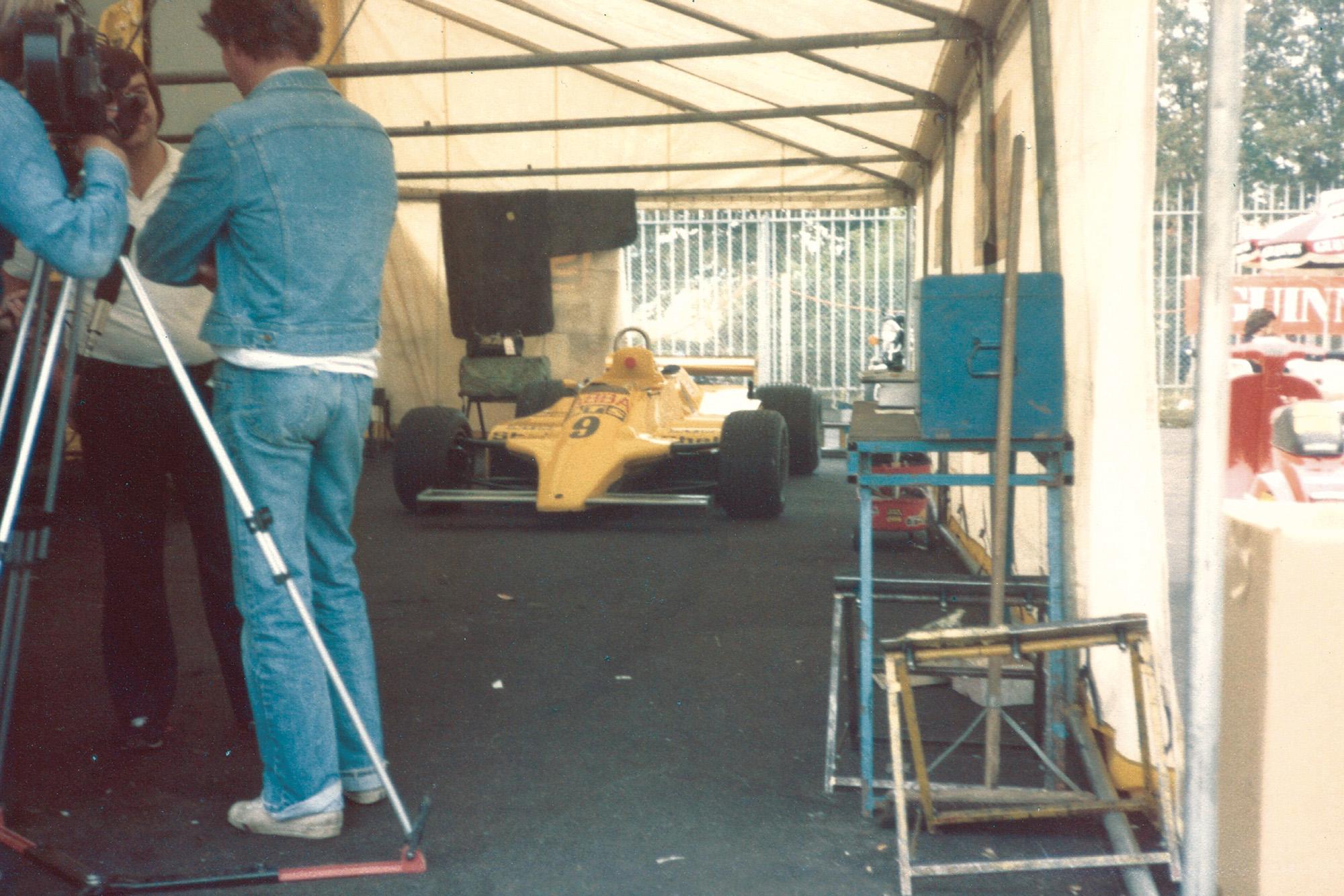 Slim Borgudd's ATS at the 1981 Italian GP