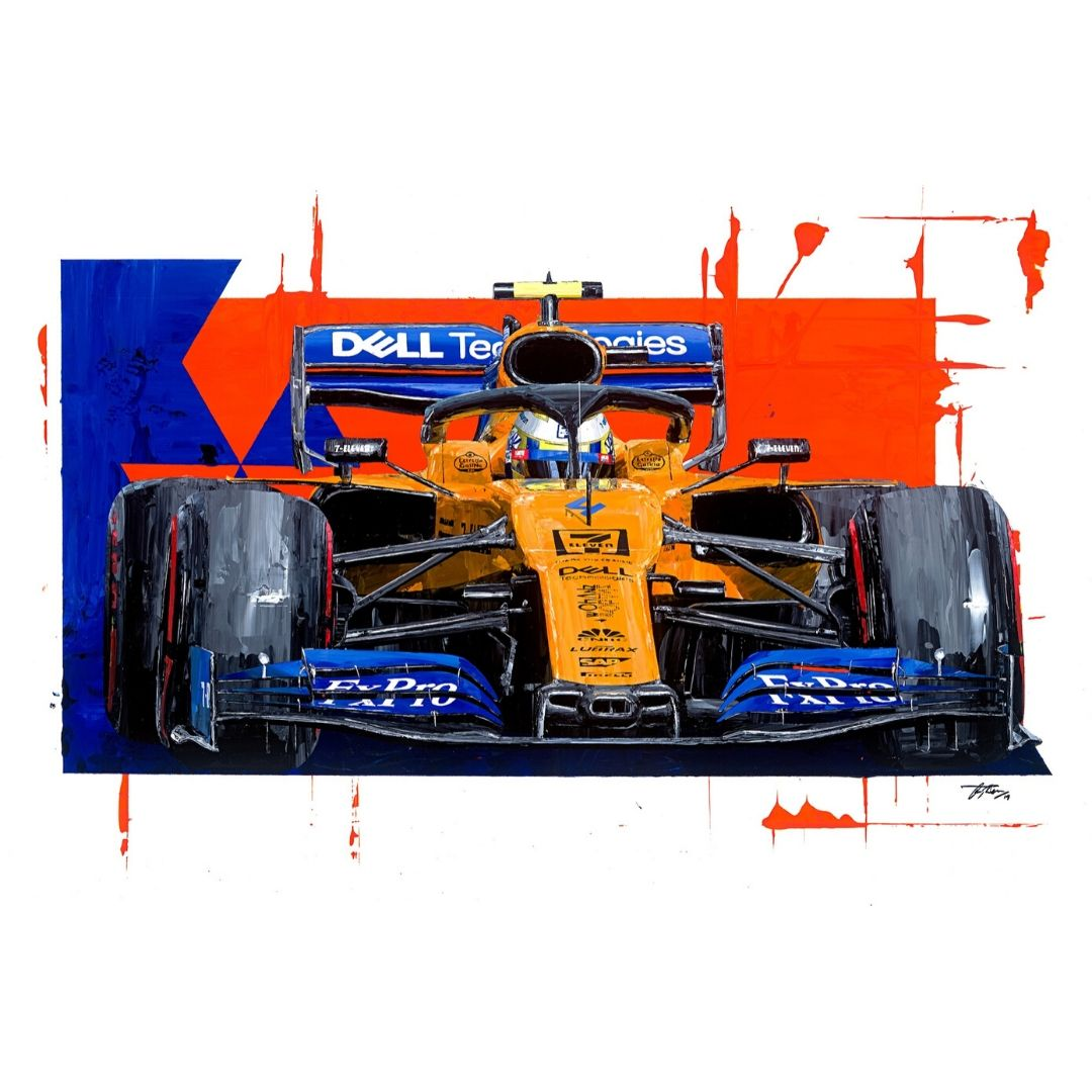Product image for Lando Norris - McLaren - 2019   David Johnson   Limited Edition print