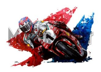 Product image for Carl Fogarty - Ducati - 1999 | David Johnson | Limited Edition print