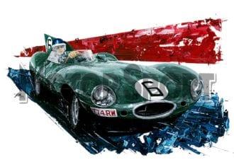 Product image for Mike Hawthorn - Jaguar - 1955   David Johnson   Limited Edition print