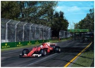 Product image for Sebastian Vettel - Ferrari – 2017 | David Johnson | Limited Edition print