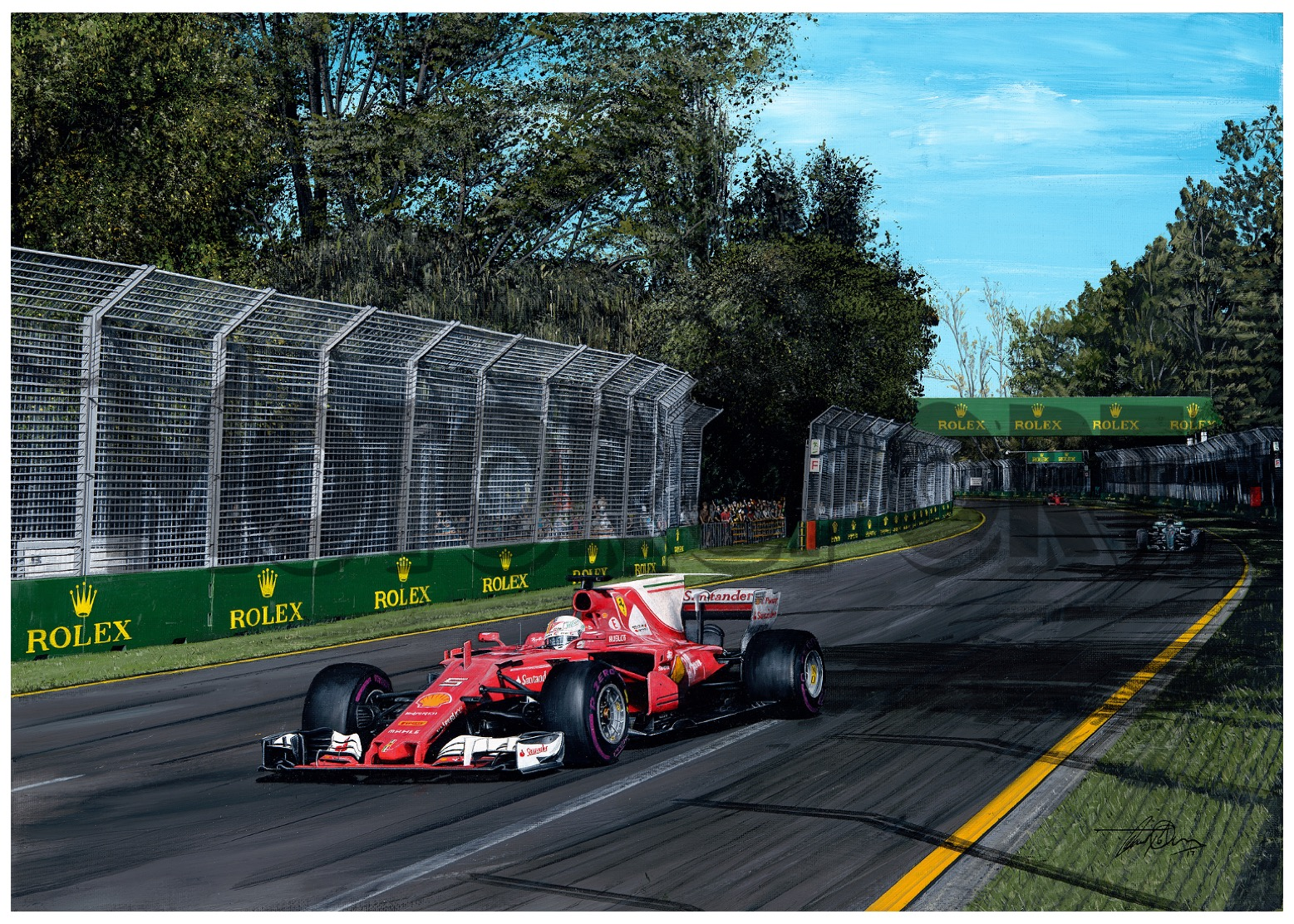 Product image for Sebastian Vettel - Ferrari – 2017 | David Johnson | Limited Edition print