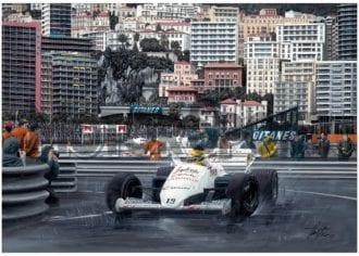 Product image for Ayrton Senna - Toleman – 1984 | David Johnson | Limited Edition print