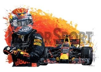 Product image for Max Verstappen – Red Bull Racing – 2017   David Johnson   Limited Edition print