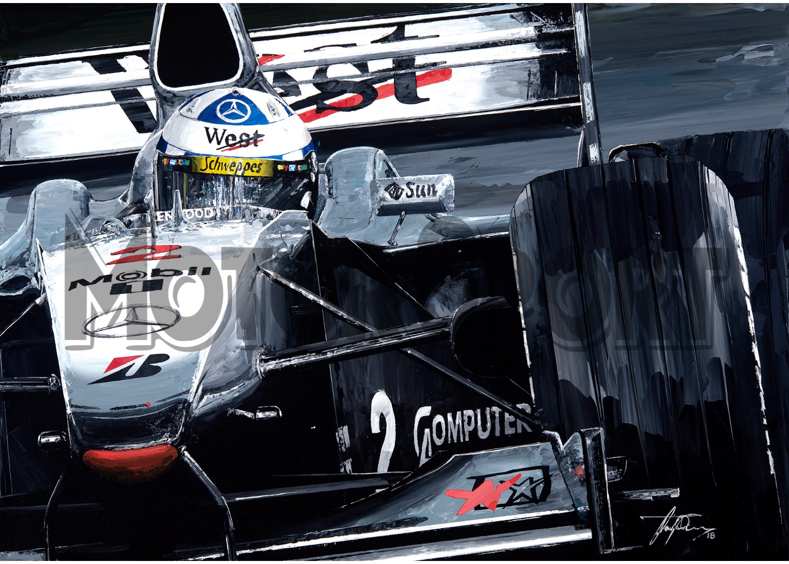 Product image for David Coulthard - McLaren MP4/15 – 2000 | David Johnson | Limited Edition print