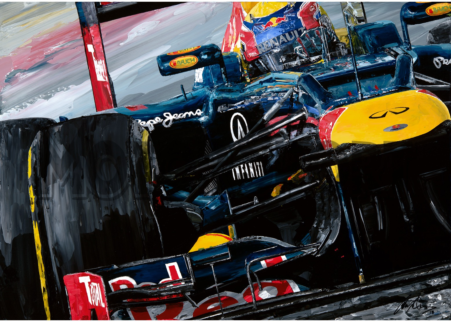 Product image for Mark Webber – Red Bull Racing – 2012 | David Johnson | Limited Edition print