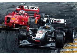 Product image for Mika Hakkinen & Michael Schumacher - 1998 | David Johnson | Limited Edition print