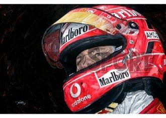 Product image for Michael Schumacher – Ferrari – 2005 | David Johnson | Limited Edition print