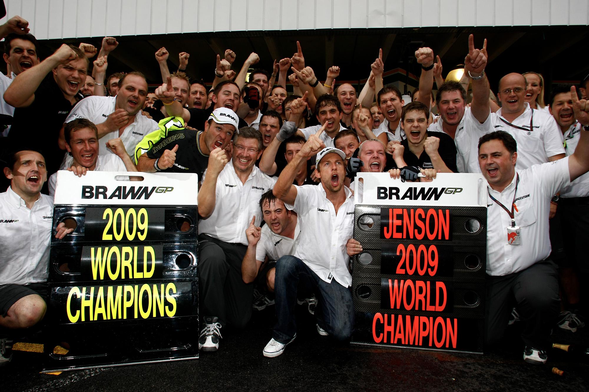 Brawn GP celebrates winning both 2009 F1 championshiops