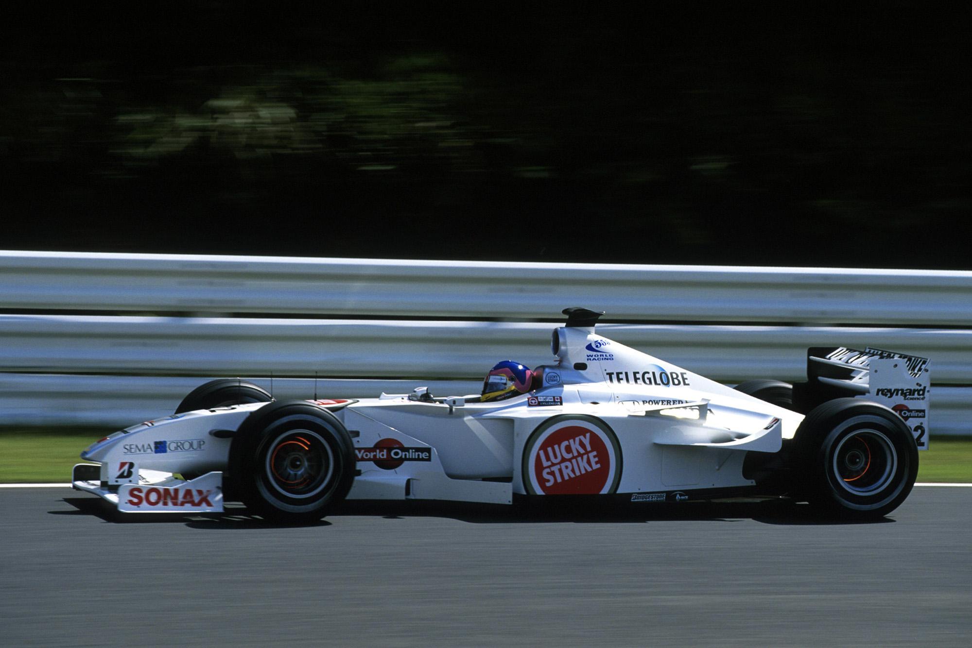 Jacques Villeneuve in the 2000 BAR Honda 002