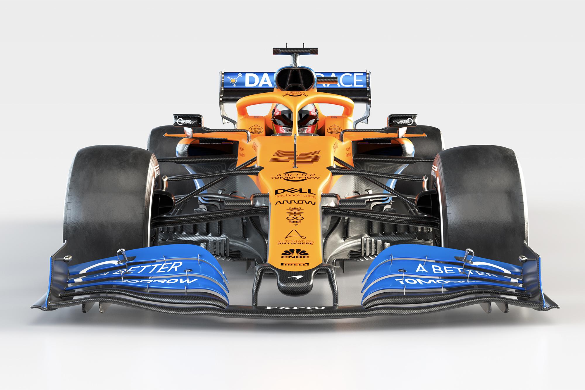 McLaren's 2020 MCL35 breaks cover at Woking