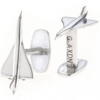 Product image for Concorde | Reclaimed Aluminium | Cufflinks
