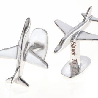 Product image for Red Arrows T1 Hawk   Reclaimed Aluminium   Cufflinks