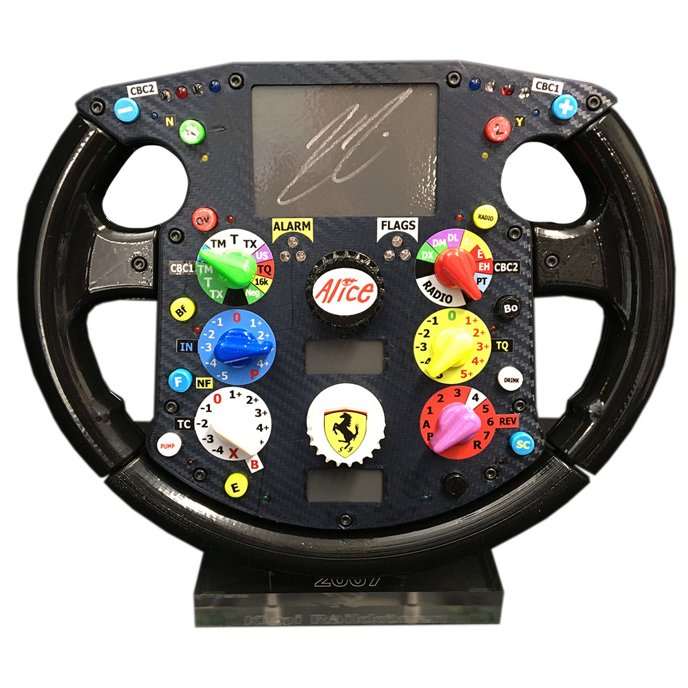 Product image for Kimi Räikkönen - Ferrari - 2007 | replica steering wheel | signed Kimi Räikkönen | full-size