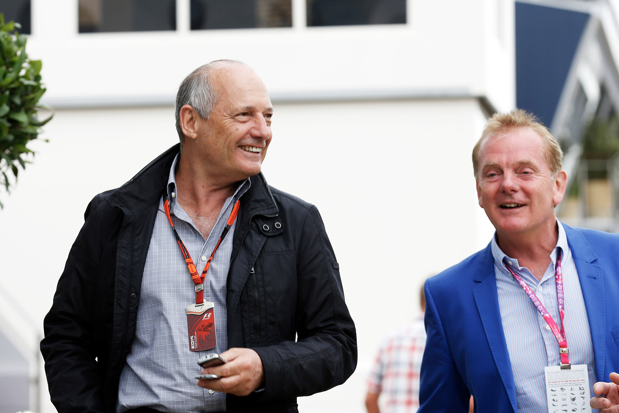 Ron Dennis and Jonathan Palmer in 2015
