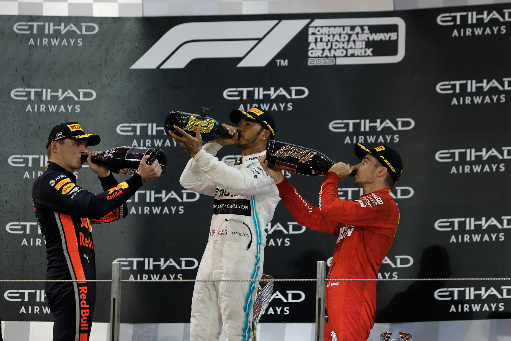 champagne podium