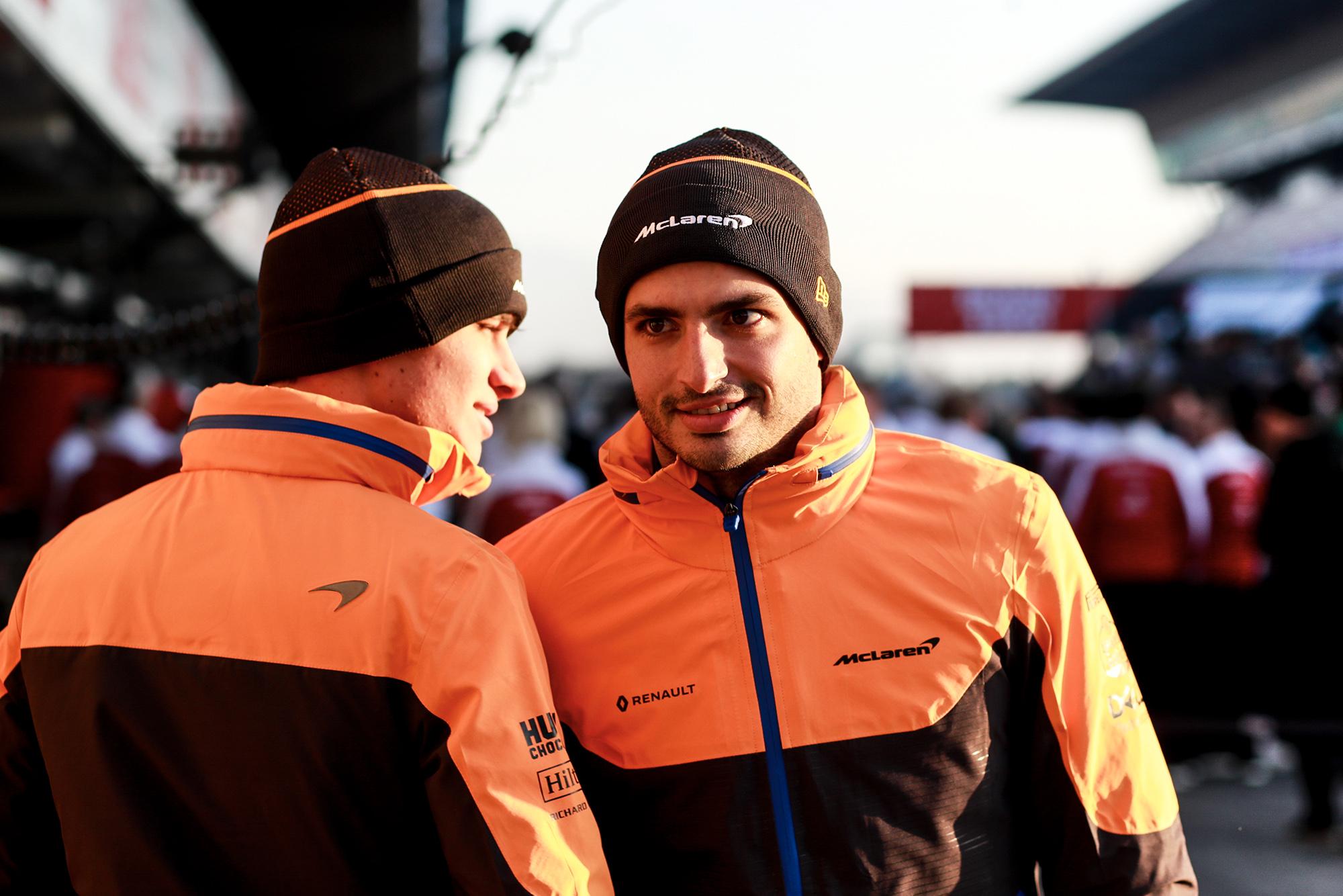 2020 F1 Barcelona pre-season test Day 1 Norris and Sainz