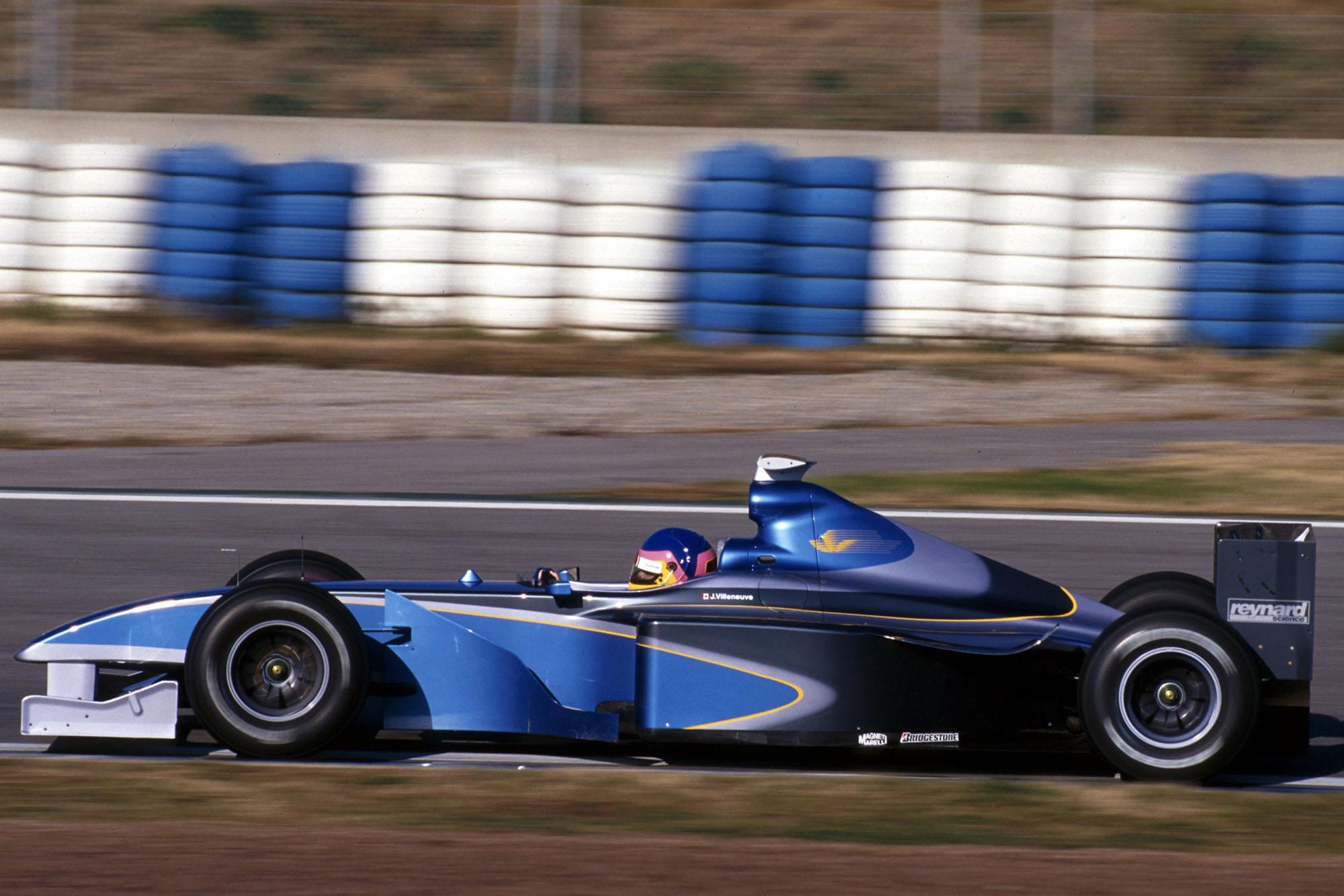 Jacques Villeneuve testing the BAR 01.