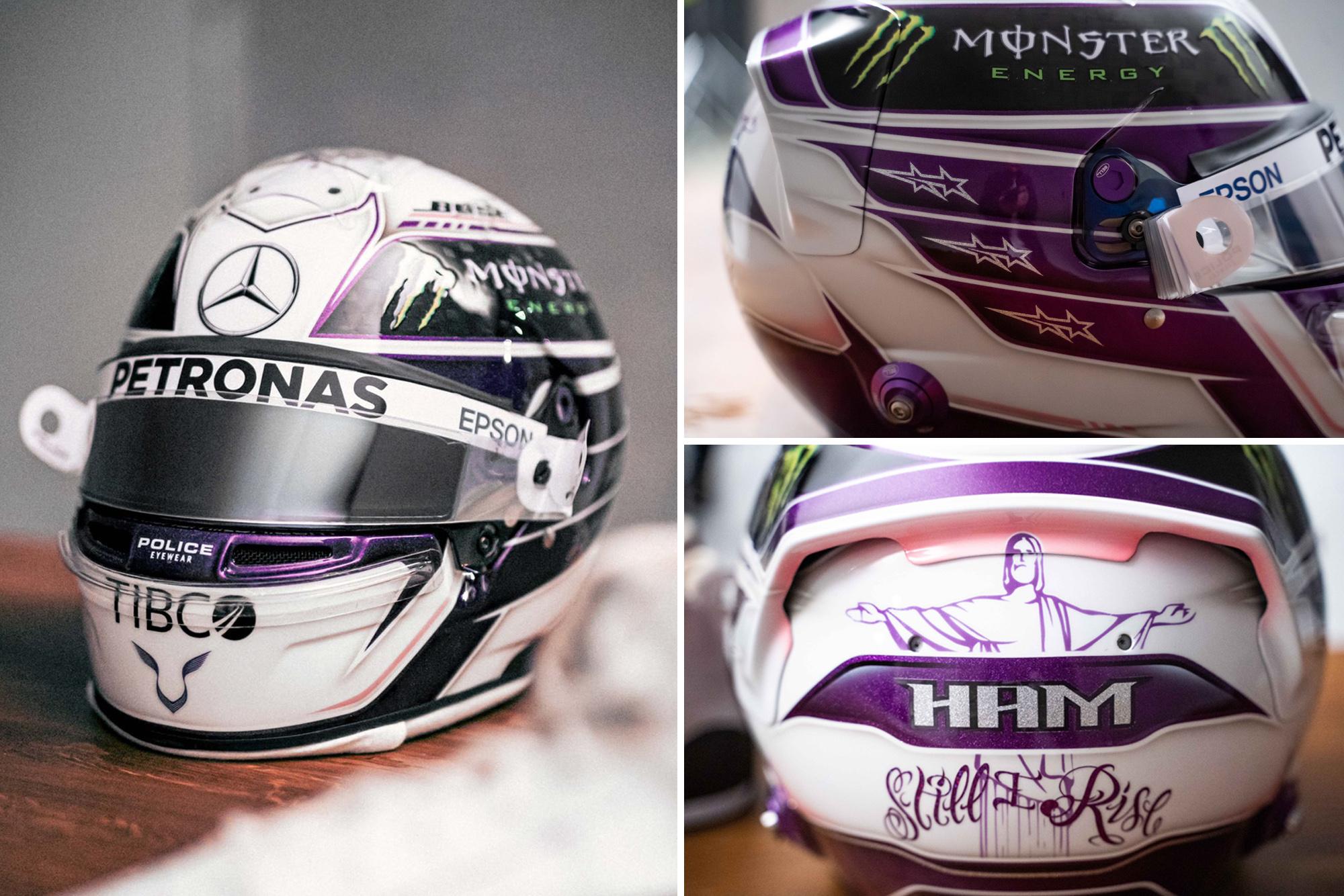 Lewis Hamilton 2020 helmet